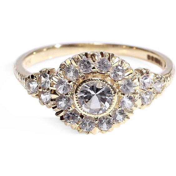 Victorian style cluster diamond ring wedding ring engagement ring