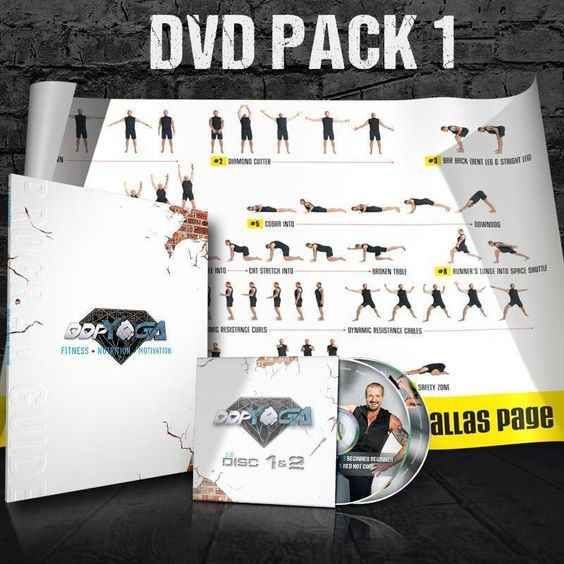 Fitness DVDs 109130: Ddp Yoga Diamond Dallas Page 2.0 Dvd Discs 1 And 2 With Poster And Program Guide -> BUY IT NOW ONLY: $53.99 on eBay!