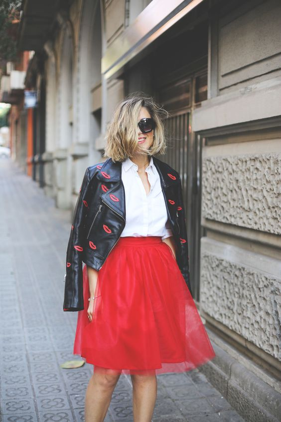 Red tulle Skirt - My Showroom