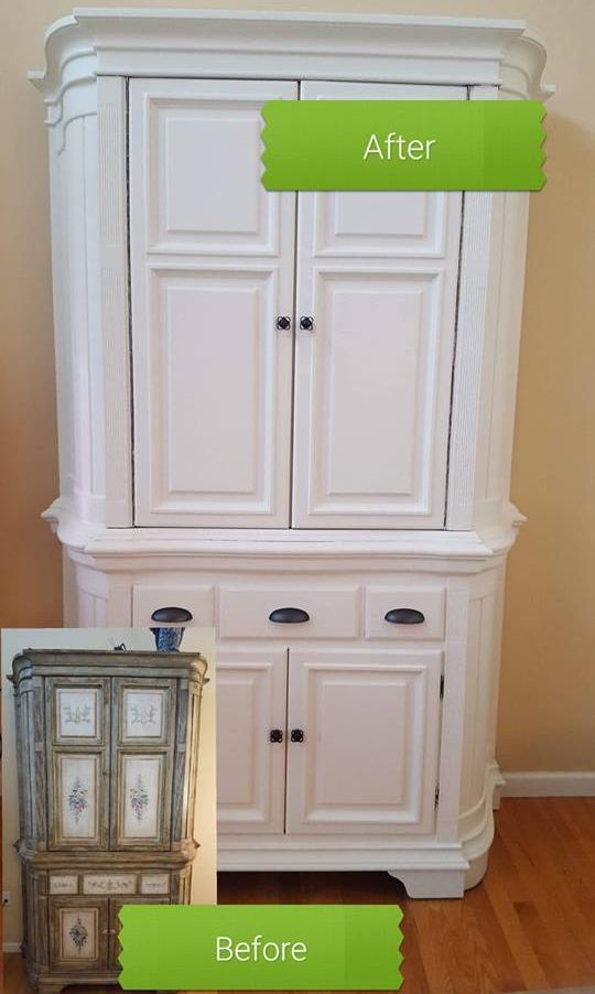 Diy How To Repaint Furniture Before After Repainting