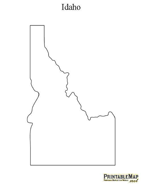 Idaho Contour Map