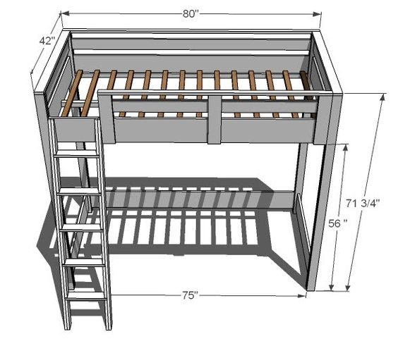 how to build a loft bed i love these especially with a desk underneath and a built in bookcase. Black Bedroom Furniture Sets. Home Design Ideas