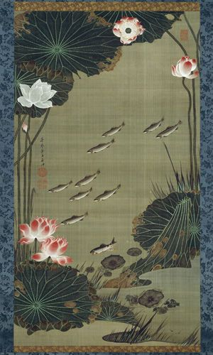 """Colorful Realm: Japanese Bird-and-Flower Paintings by Itō Jakuchū (1716–1800)"" @ NGA Washington - A.lain R. T.ruong"