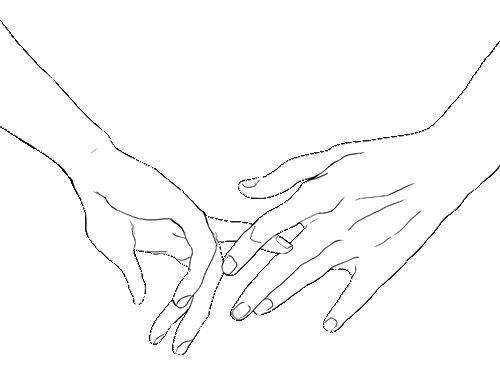 Simple Line Art Tumblr : Simple and realy cute drawing i love holding hands