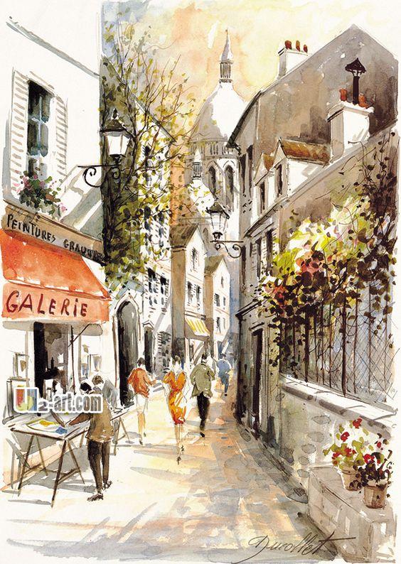 Paysage méditerranéen peinture à lhuile simple style
