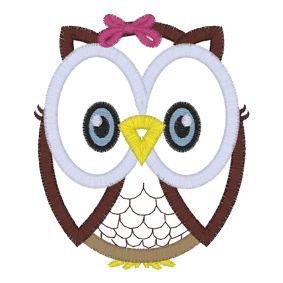 Owl (A26) Applique 4x4