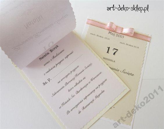 Zaproszenia Komunie Kartka Z Kalendarza 5020171960 Oficjalne Archiwum Allegro Personalized Items