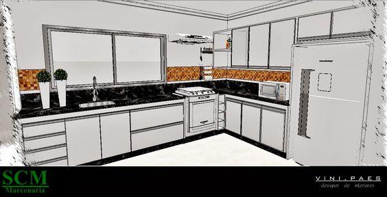 projeto marcenaria de cozinha - Pesquisa Google
