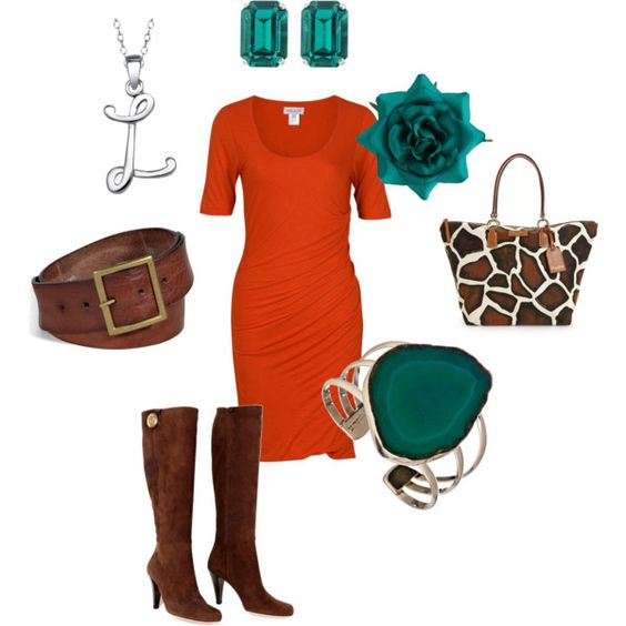 Teal & Orange, created by christina1969 on Polyvore