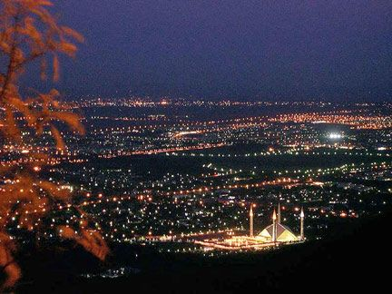 Aerial view of Islamabad, Pakistan. Islamabad is a modern, well planned and maintained city located in the Pothohar Plateau in the northeastern part of the country, and the capital of Pakistan.