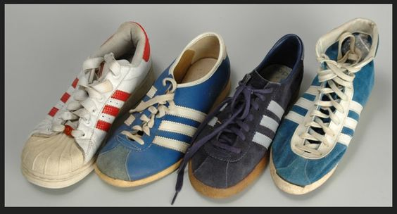 Anonymous Works: Four Vintage Adidas Tennis Shoes