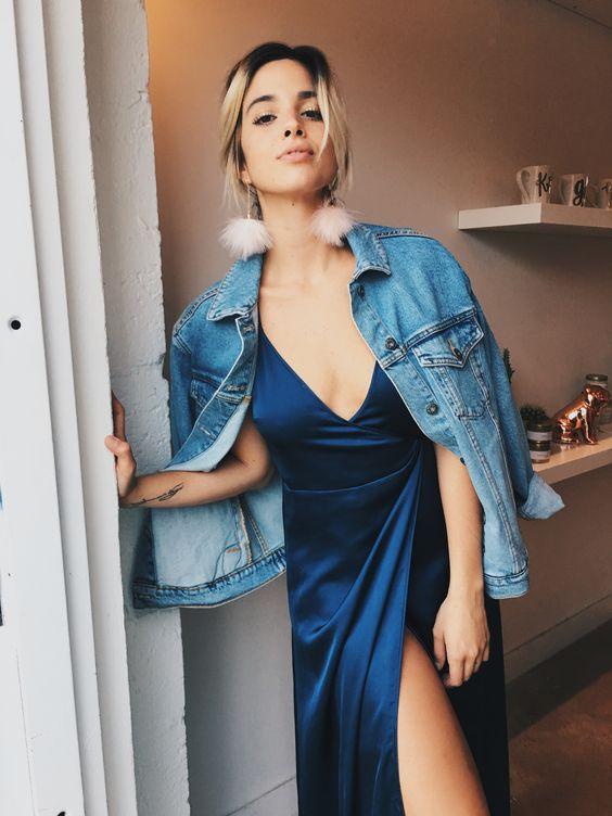 Spin Gallery Satin Wrap Maxi Dress