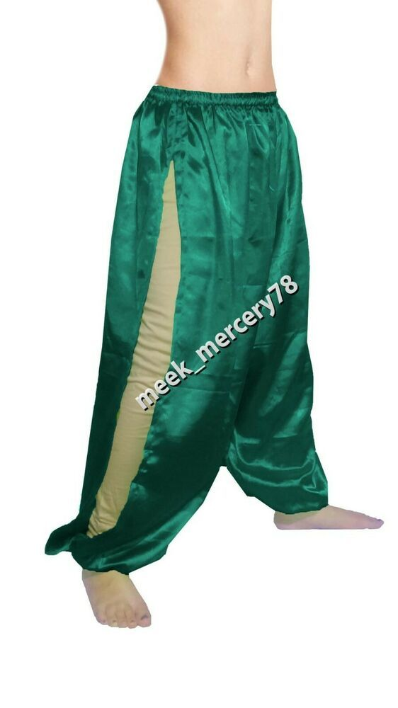 HONEY GOLD Women Satin Harem Yoga Pant Boho Aladdin Harem Bally Dance Pant