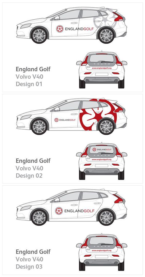 Vehicle graphics for England Golf.