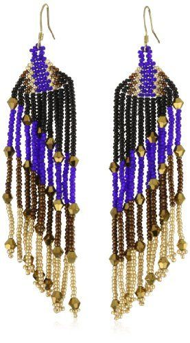 """Josefina De Alba """"Winter Magic"""" Earrings Josefina De Alba. $52.50. Inspired by the huicholes century?s old art combined with the style and power of the modern woman. Made in Mexico. Highest quality crystal seed beads and materials are used in this hand crafted piece, to assure you get a unique and beautiful pair of earrings. Handcrafted earrings with crystal Czech seed beads and 4mm crystals in bold colors on a 14kt gold plated French wire"""
