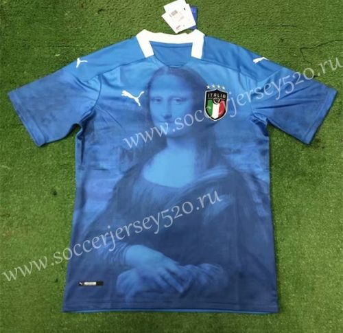 Conceptual Version 2020 2021 Italy Blue Thailand Soccer Jersey Aaa 403