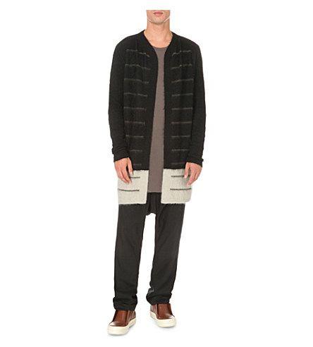 1005€ RICK OWENS - striped knitted cardigan | Selfridges.com