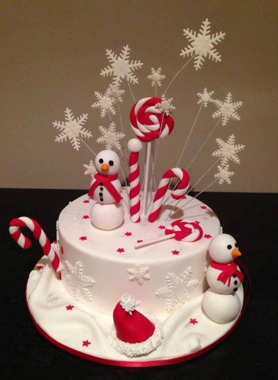 Images Of Christmas Cake Decorations : Christmas cake decor, love it! CHRISTMAS CAKES ...