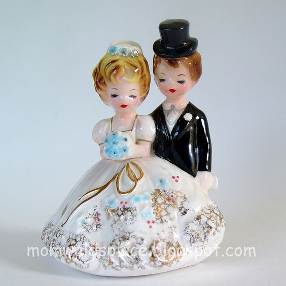 Bride and Groom by Josef Originals by Mom Walds Place, via Flickr