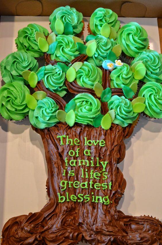 An Adoption Celebration tree of cupcakes