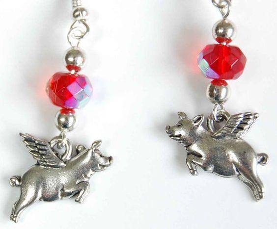 Red & Silver  by Corkycrafts on Etsy