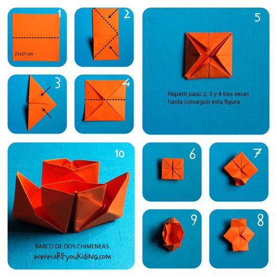 Origami search and google on pinterest - Papiroflexia paso a paso ...