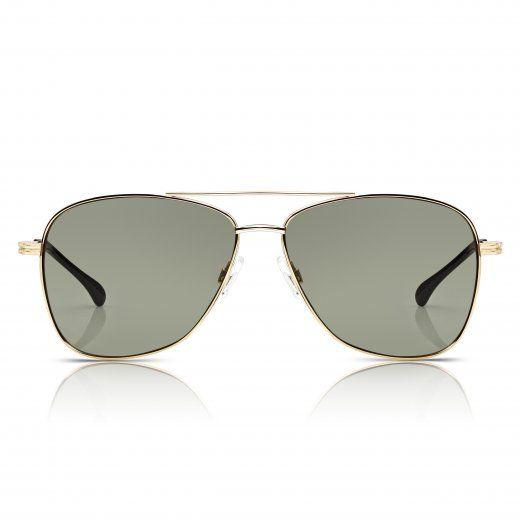 SUNGLASSJUNKIE.COM unisex gold contemporary aviator sunglasses