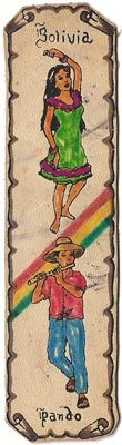 bookmark from Bolivia