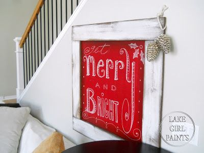 Lake Girl Paints: Make a Red Chalkboard