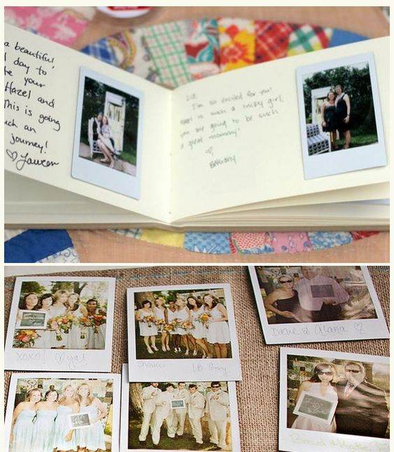Polaroid guest book, if they still have Polaroid cameras when she gets married?