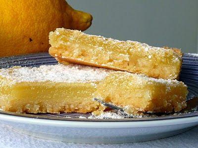 comida de quinta: barrinhas de limão e amêndoa