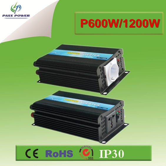 $120.00 (Buy here: http://appdeal.ru/equb ) CE&RoHS Approved, Off Grid Solar Inverter Pure Sine Wave Inverter 600w 12v to 220v for just $120.00
