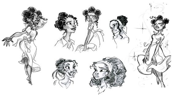 Tiana • Art of © Walt Disney Animation Studios ★ || Website | (www.disneyanimation.com) • Please support the artists and studios featured here by buying their works from their official online store (www.disneystore.com) • Find more artists at www.facebook.com/CharacterDesignReferences and www.pinterest.com/characterdesigh || ★