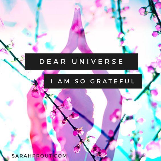 Dear Universe, I am so grateful. #manifest #LoA: