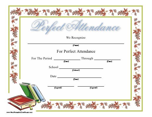 This blue certificate of achievement features an artist palette - printable certificate of attendance