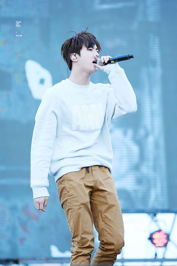BTS Jin © PEACH AND DAISY | Do not edit.