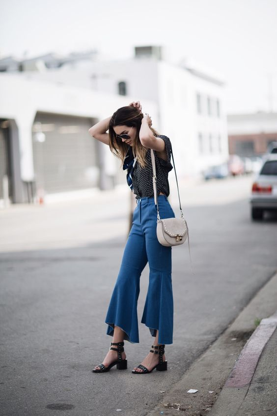 Mega flares cropped denim | Thrifts and Threads