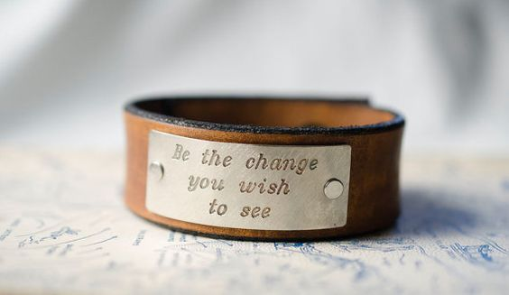 Be the Change You Wish to See   Adjustable Leather by Cjohannesen, $25.00