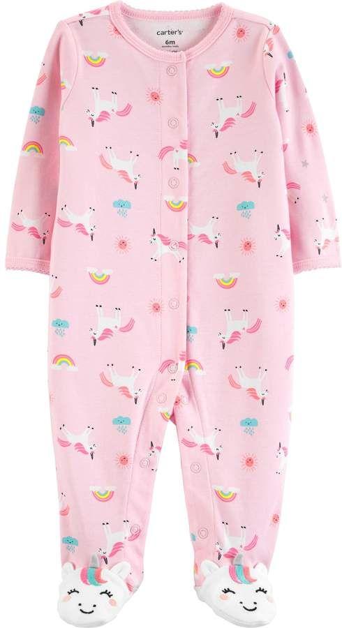 Carters Baby Girls Bunny Snap up Cotton Sleep /& Play