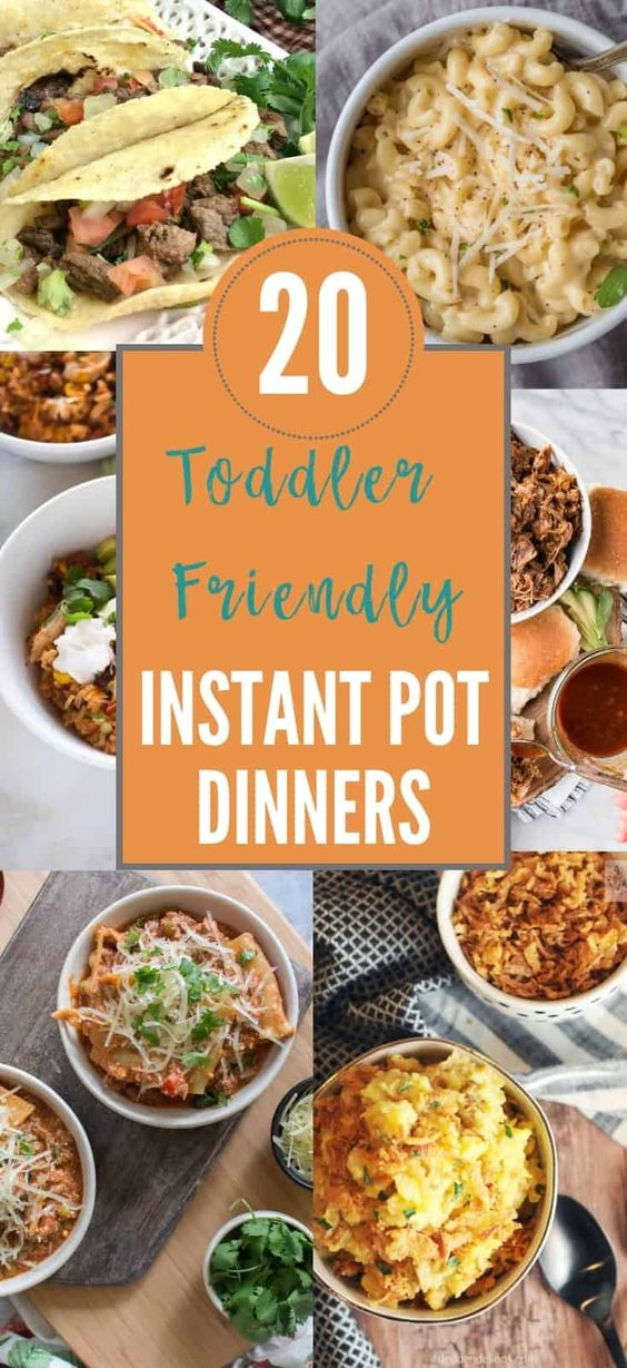 20 Quick and Toddler Friendly Instant Pot Dinners · Urban Mom Tales