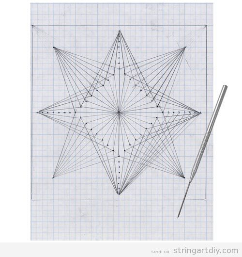 geometric string art free pattern paper kids geometric string art project on paper ip sanat. Black Bedroom Furniture Sets. Home Design Ideas