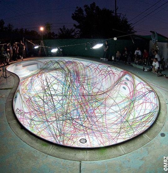 skateboard traces