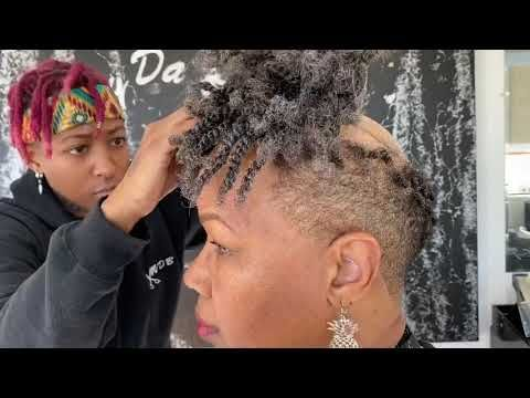 She Found Me On Youtube She Was Tired Of Wearing Wigs So I Had To Help Youtube Short Hair Wigs Hair Unit Hair Styles