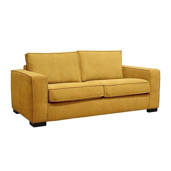 Meilleures id es de la cat gorie jaune alin a jaune for Canape convertible jaune