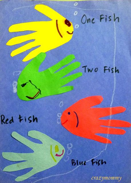 Dr seuss 39 one fish two fish red fish blue fish craft by for Red fish blue fish dr seuss