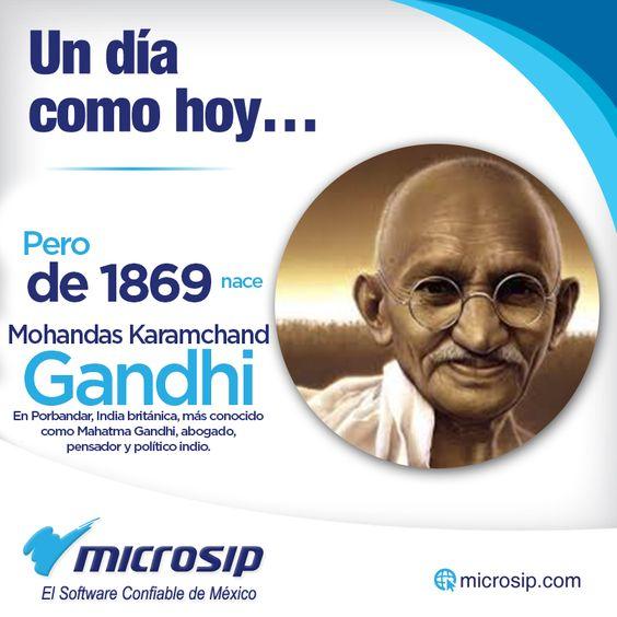 Un día como hoy, 2 de octubre, pero de 1869 nace en Porbandar, India británica, Mohandas Karamchand Gandhi, más conocido como Mahatma Gandhi, abogado, pensador y político indio.