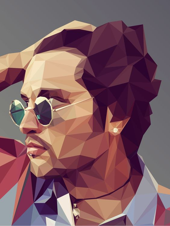 Low Poly Ilustraci N De Retrato And Behance On Pinterest