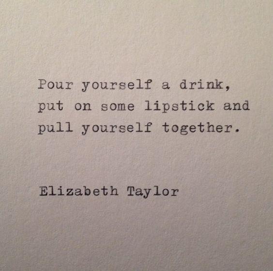 Elizabeth Taylor Quote Hand Typed on Vinatge door WhiteCellarDoor