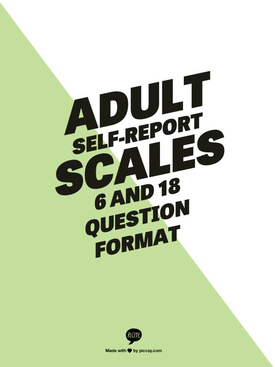 18 question adult self report scale