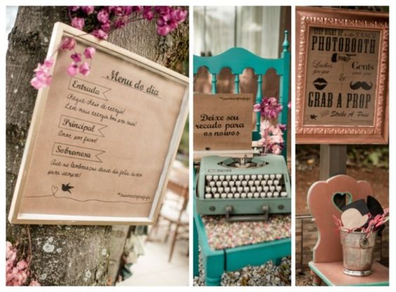 Placas para orientar os convidados do casamento - foto Fabio Lacerda